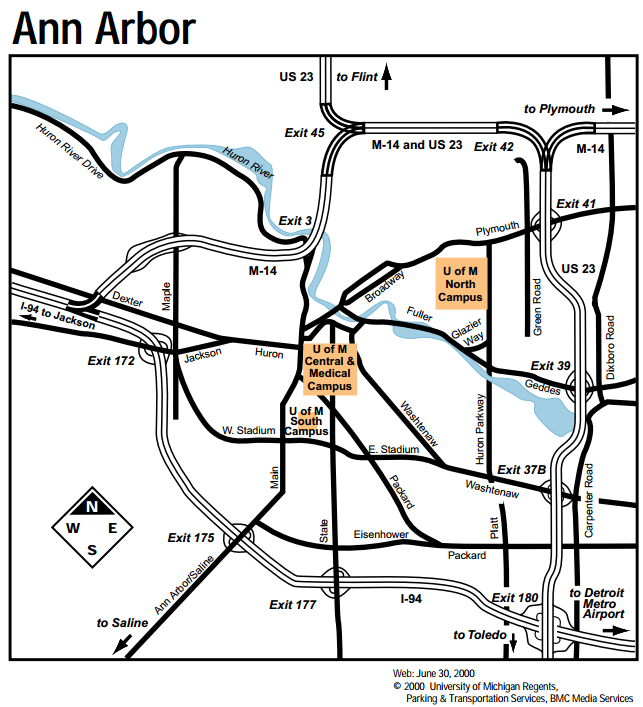 Ann Arbor Campus Overview Map